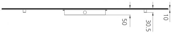 UP PL2X4 LED Panel Light Dimensions