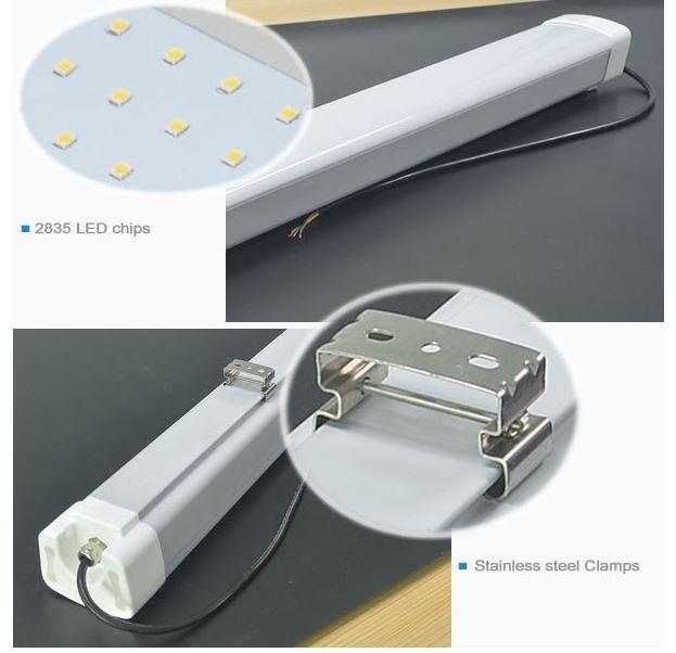 Outdoor 48 LED Waterproof Strip Light 50 Watt Vapor Proof